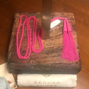 NWT Kendra Scott Phara Lariat Necklace in Magenta
